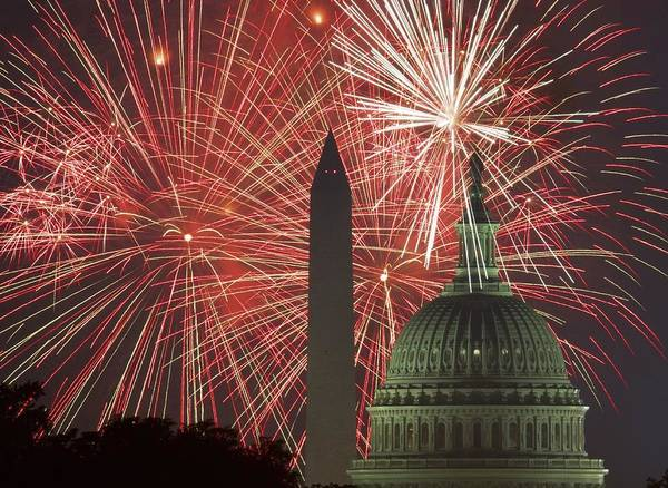 Fourth Of July Photograph - Topshot-us-lifestyles-fireworks-holiday by Afp Contributor
