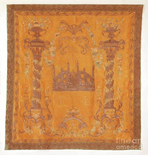 Painting - Torah Ark Curtain by Celestial Images