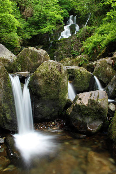Killarney Photograph - Torc Waterfall And The Owengarriff by Trish Punch