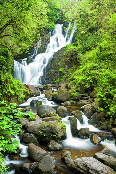 Killarney Photograph - Torc Waterfall by Jorg Greuel