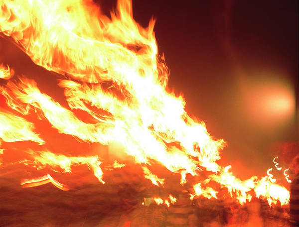 Lewes Photograph - Torch Flames by Gary Parker/science Photo Library