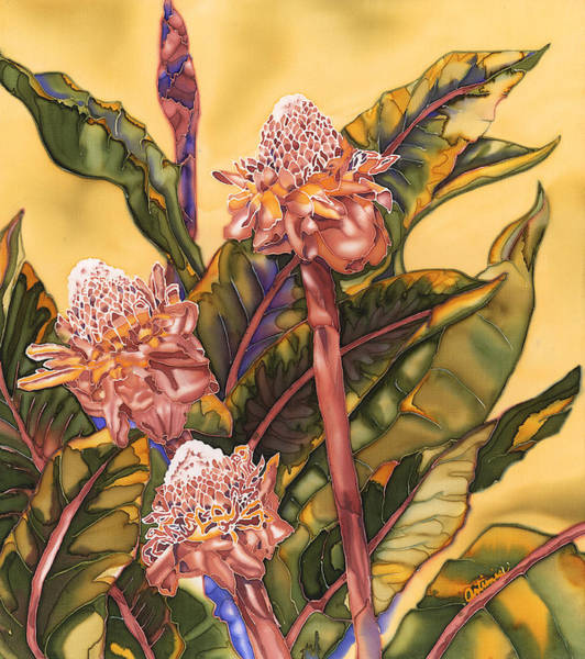Painting - Torch Ginger by Artimis Alcyone