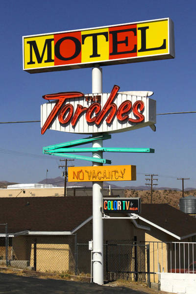 Historic Route 66 Photograph - Torches Motel  by Mike McGlothlen