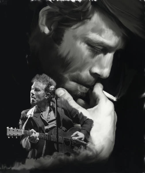 Painting - Torn Pages Tom Waits  by Iconic Images Art Gallery David Pucciarelli