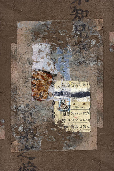 Cement Wall Art - Photograph - Torn Papers On Wall by Carol Leigh