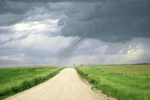 North Dakota Badlands Wall Art - Photograph - Tornado by Reed Timmer/science Photo Library