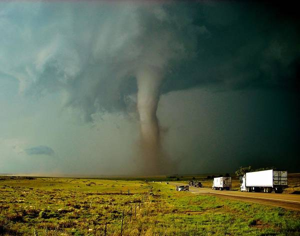 Prarie Photograph - Tornado Truck Stop II by Ed Sweeney
