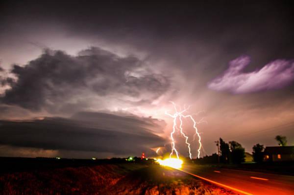 Photograph - Tornado Warning In Northern Buffalo County Nebraska by NebraskaSC