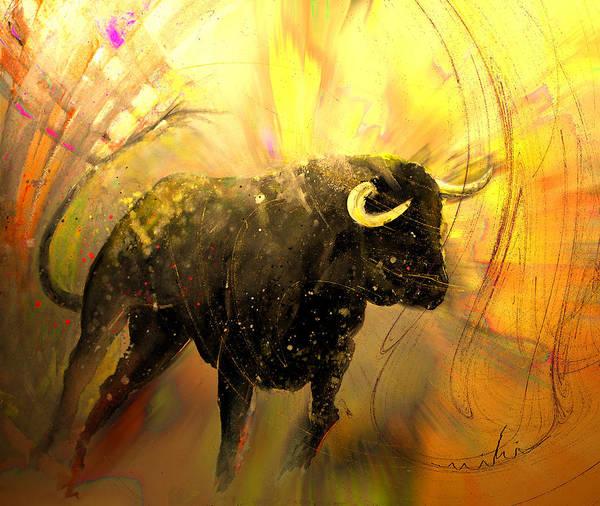 Painting - Toro Solo 02 by Miki De Goodaboom
