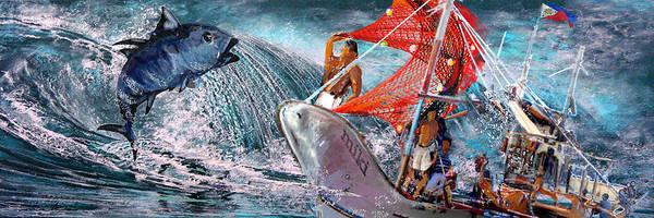 Painting - Toro Tuna by Miki De Goodaboom