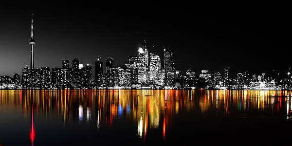 Photograph - Toronto After Dark by Andrew Fare