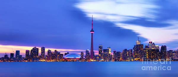 Financial Centre Photograph - Toronto Bay Panorama by Laurent Lucuix
