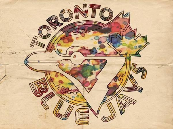 Painting - Toronto Blue Jays Vintage Art by Florian Rodarte