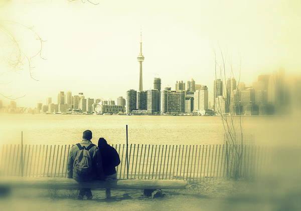 Wall Art - Photograph - Toronto Blurry Romance In Yellow by Valentino Visentini