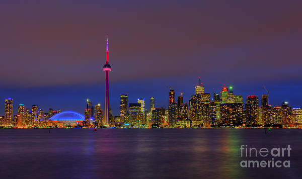 Toronto By Night... Art Print