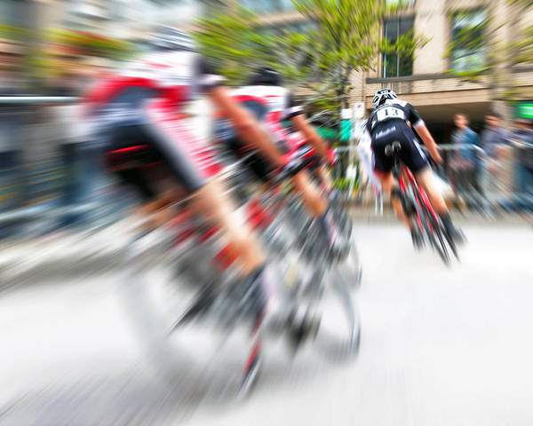 Street Racer Photograph - Toronto Criterium Bicycle Race Special Fx - Lucky Number 13 by Brian Carson