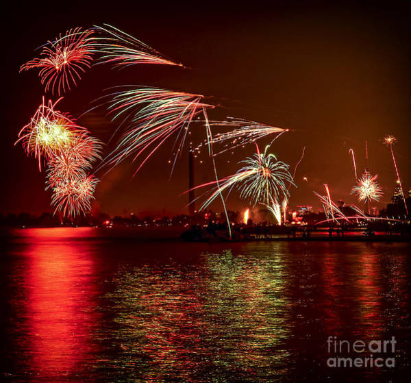 Ontario Photograph - Toronto Fireworks by Elena Elisseeva