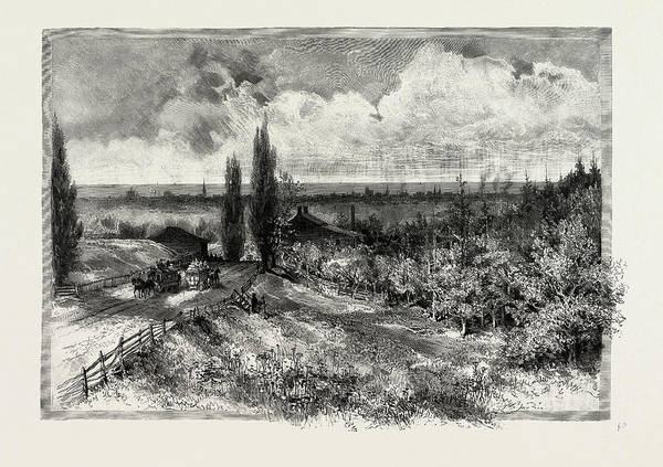 Toronto Drawing - Toronto, From Kingston Road, Canada by Canadian School