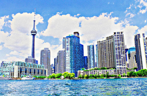 Toronto Blue Jays Photograph - Toronto Harbour On A Sunny Day by Nina Silver