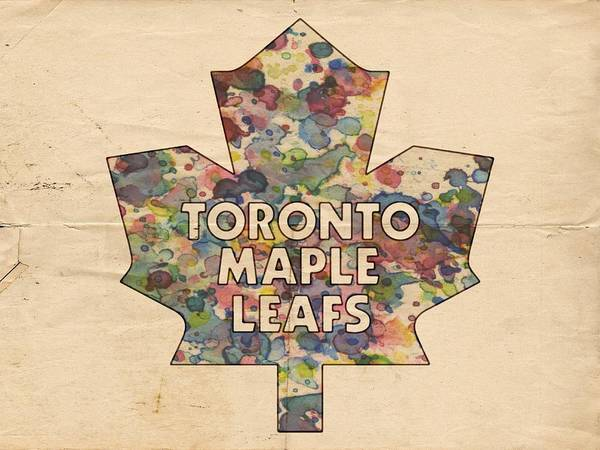 Painting - Toronto Maple Leafs Hockey Poster by Florian Rodarte