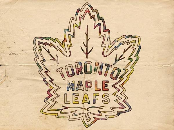 Painting - Toronto Maple Leafs Retro Poster by Florian Rodarte