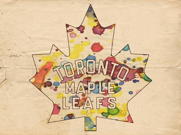 Painting - Toronto Maple Leafs Vintage Poster by Florian Rodarte