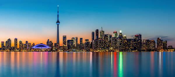 Photograph - Toronto Panorama At Dusk by Mihai Andritoiu