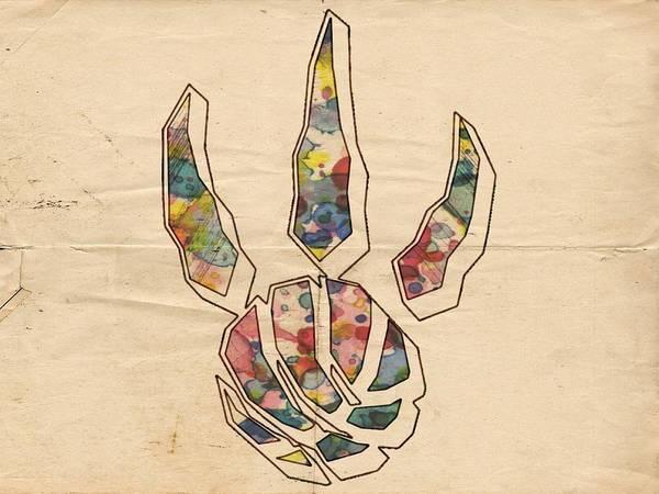 Painting - Toronto Raptors Logo Art by Florian Rodarte