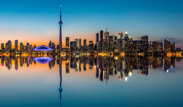 Photograph - Toronto Skyline At Dusk by Mihai Andritoiu