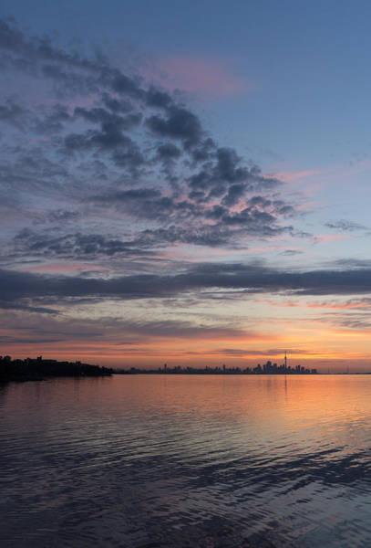 Photograph - Toronto Skyline In Pastel Blue Pink Yellow Orange And Purple by Georgia Mizuleva