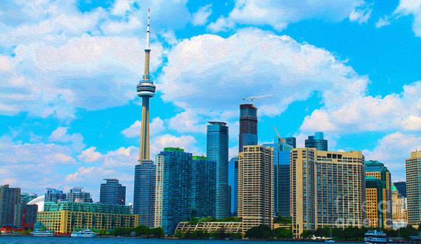 Toronto Blue Jays Photograph - Toronto Skyline In Summer by Nina Silver