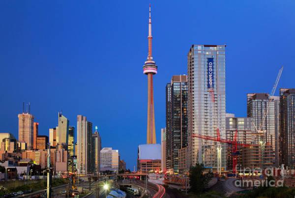 Cn Tower Wall Art - Photograph - Toronto Skyline by Inge Johnsson