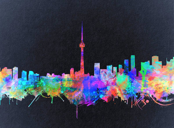 Toronto Painting - Toronto Skyline Watercolor 2 by Bekim M