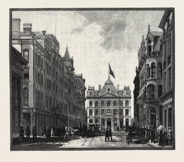 Toronto Drawing - Toronto Street, And Post Office, Canada by Canadian School