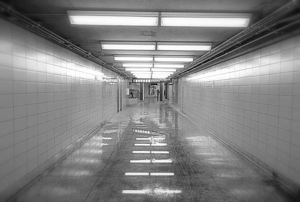Wall Art - Photograph - Toronto Subway Tunnel by Valentino Visentini