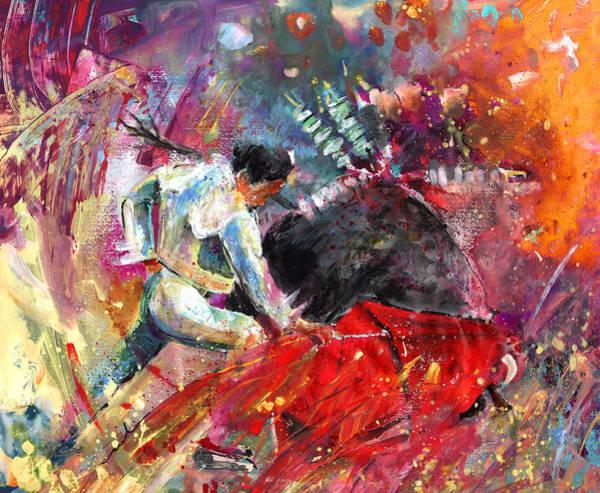 Torero Wall Art - Painting - Toroscape 11 by Miki De Goodaboom