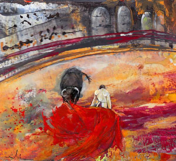 Torero Wall Art - Painting - Toroscape 56 by Miki De Goodaboom