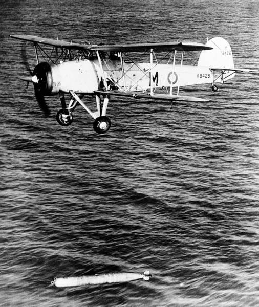 Sea Plane Photograph - Torpedo Bomber In World War II by Us Navy/science Photo Library