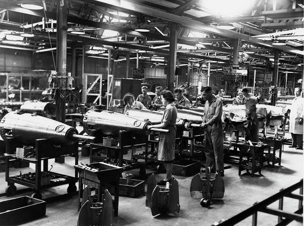 Armament Photograph - Torpedo Production At A Car Factory by Oxford University Images/science Photo Library