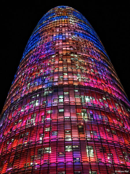 Photograph - Torre Agbar Agbar Tower by Alfons Rial