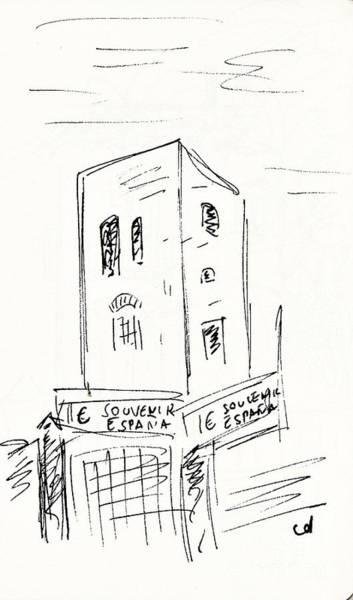 Drawing - Torre De Los Molinos by Chani Demuijlder
