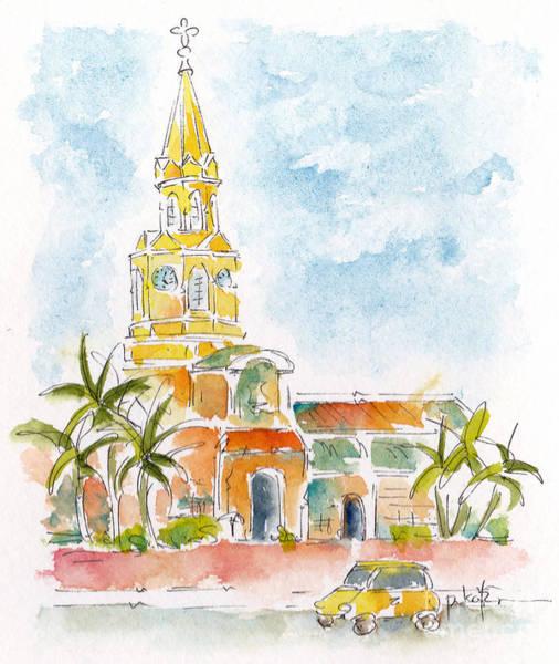 Painting - Torre Del Reloj by Pat Katz