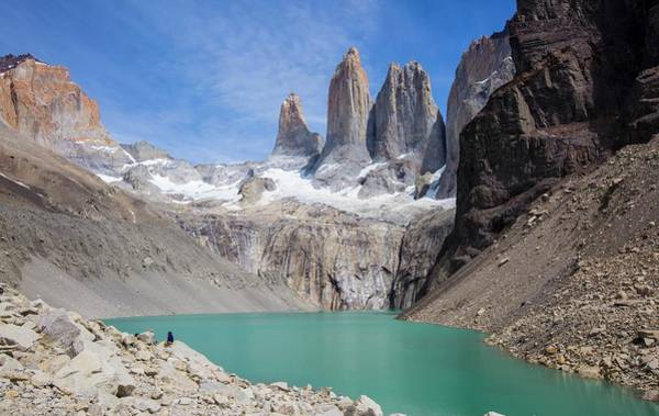 Glacial Photograph - Torres Del Paine Mountains by Peter J. Raymond