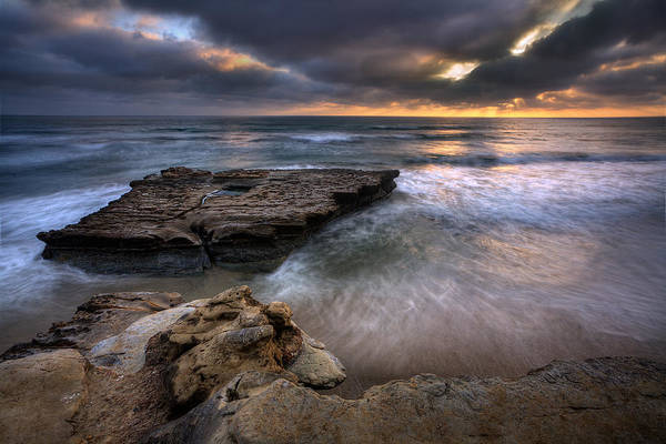 Torrey Photograph - Torrey Pines Flat Rock by Peter Tellone