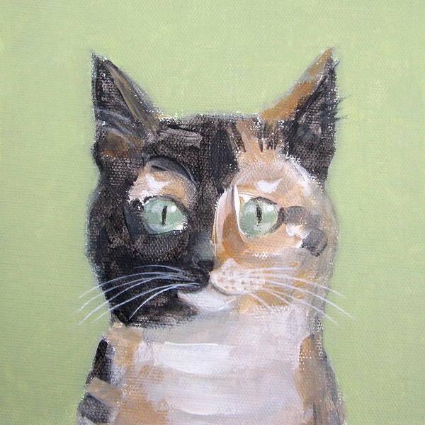 Tortie Cat Art Print