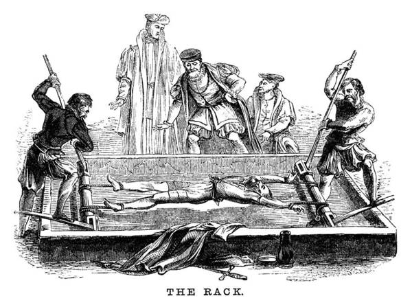 Torture On The Rack (victorian Woodcut) Art Print by Whitemay