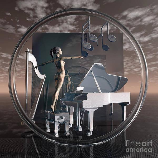 Harp Digital Art - Torus - Music by Diuno Ashlee