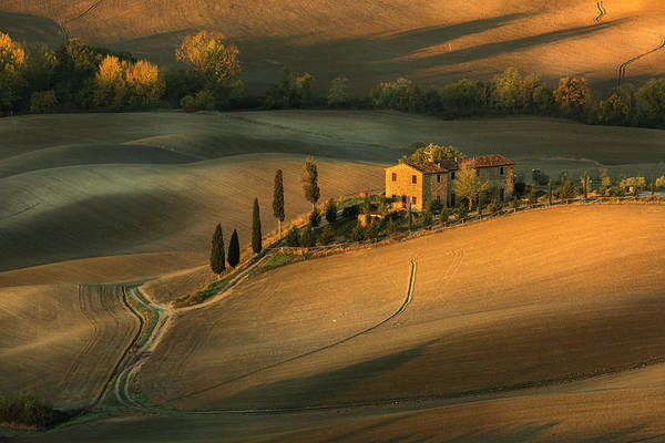 Farmhouse Photograph - Toscany by Clas Gustafson Efiap