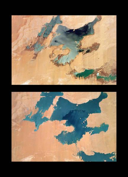 Sahara Photograph - Toshka Lakes Drying by Nasa/science Photo Library