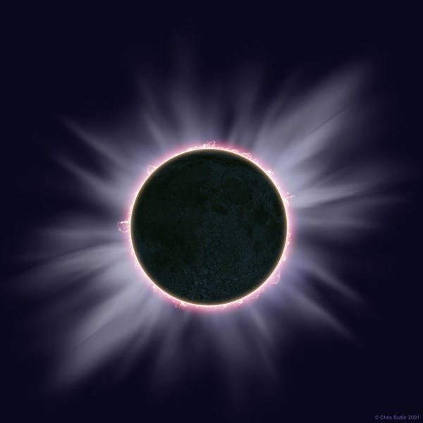 Totality Photograph - Total Solar Eclipse by Chris Butler/science Photo Library